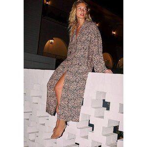 Free People Daria leopard printed trench coat